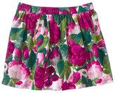 Gymboree Fuchsia & Green Floral Skirt - Girls