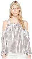 Vince Camuto Long Sleeve Graceful Phrases Cold-Shoulder Drape Blouse Women's Blouse