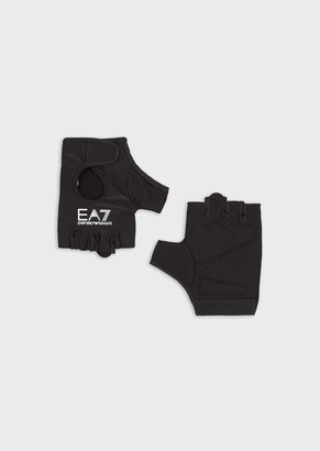 Ea7 Gym Gloves With Logo