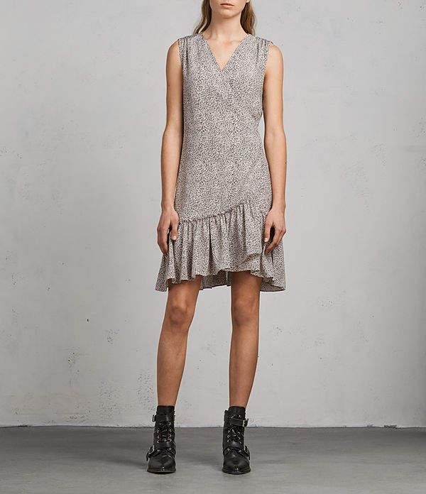 AllSaints Rene Leodot Silk Dress