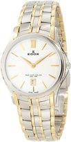 Edox Women's 26025 357J BID Grand Ocean Gold PVD and Silver Stainless Steel Watch