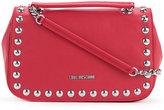 Love Moschino studded logo shoulder bag - women - Polyurethane - One Size