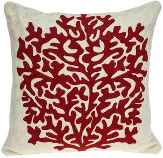 Parkland Collection Canna Beige Throw Pillow