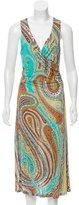 Etro Paisley Draped Dress