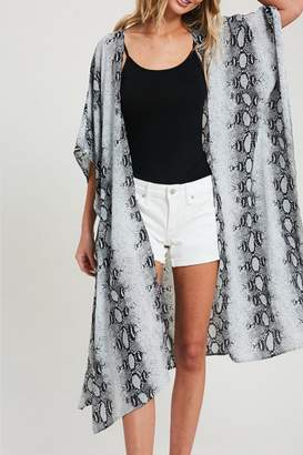 Eesome Snake-Print Side-Slit Kimono