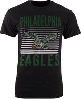 Junk Food Clothing Men's Philadelphia Eagles Block Shutter T-Shirt