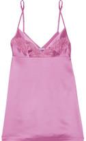 La Perla Windflower Embroidered Stretch-silk Satin Chemise - Baby pink