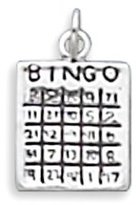 West Coast Jewelry 925 Sterling Silver Bingo Charm