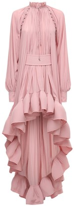 Lanvin High-low Ruffled Shirt Dress
