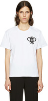 Emilio Pucci White Embroidered Logo T-shirt