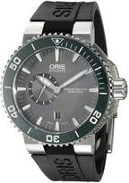 Oris Men's 'Aquis' Swiss Automatic Stainless Steel and Rubber Watch, Black (Model: 74376734137RS)