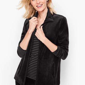 Talbots Luxe Velour Jacket