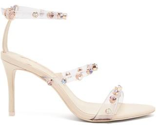 Sophia Webster Rosalind Crystal-studded Leather Sandals - Womens - Nude