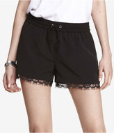 Express 2 1/2 Inch Lace Trim Drawstring Shorts