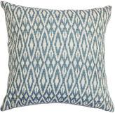 One Kings Lane Hafoca 18x18 Cotton Pillow, Denim