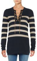MICHAEL Michael Kors Chain-Link Lace-Up Tunic