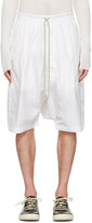 Rick Owens White Pods Shorts