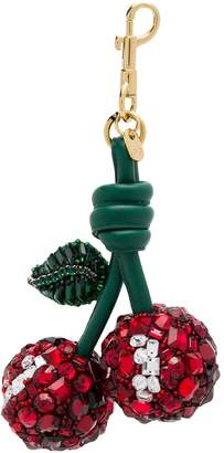 Anya Hindmarch embellished cherry keyring