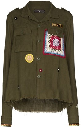 Amiri Applique Detail Military Jacket