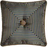 "Austin Horn Classics Mitered-Stripe Pillow, 18""Sq."
