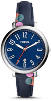 Fossil Jacqueline Three-Hand Date Polka Dot Leather Watch