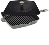 "Staub Enameled Cast Iron 12"" Square Grill Pan & Press Set"