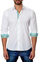 Jared Lang Textured Trim Fit Shirt