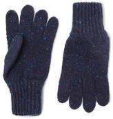 Drakes Drake's - Ribbed Donegal Merino Wool Gloves - Blue