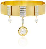 Monica Sordo Aubette 21K Gold-Plated Obsidian Choker