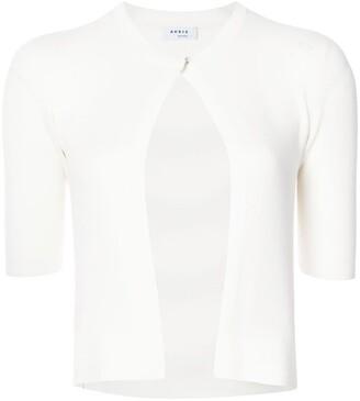 Akris Punto Short-Sleeved Cropped Cardigan