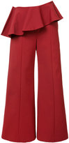 Rosie Assoulin pleated trim palazzo pants - women - Cotton/Polyamide/Spandex/Elastane - 2