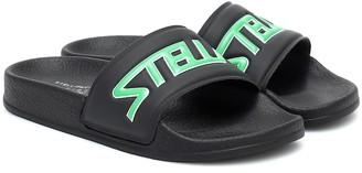 Stella McCartney Kids Logo rubber slides