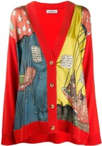 Lanvin Little Nemo print panelled cardigan