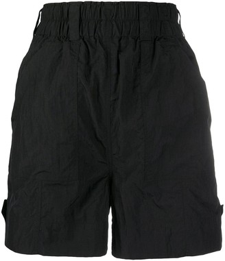 Ganni Crinkled Tech Shorts