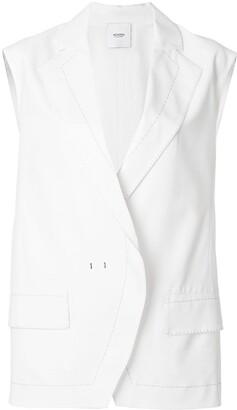 Agnona Contrast Stitch Oversize Waistcoat