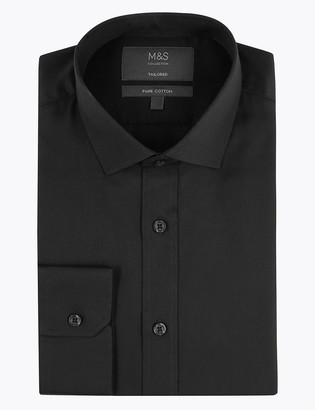 Marks and Spencer Tailored Fit Pure Cotton Shirt