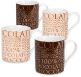 "Konitz 100% Chocolate"" Mugs (Set of 4)"