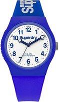 Superdry 'Urban' Quartz Plastic and Silicone Dress Watch, Color:Blue (Model: SYG164U)