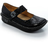 Alegria Paloma Floral-Embossed Leather Mary Jane Clogs