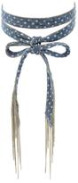 Chan Luu Denim & Chain Fringe Choker Necklace