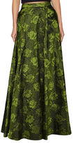 Alice + Olivia Carey Jacquard Pleated A Line Gown