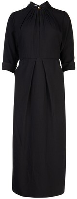 Prada Gathered Band Collar Dress