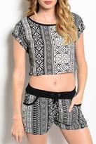 Adore Clothes & More Geometric Pattern Shorts