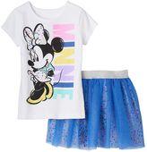 Disney Disney's Minnie Mouse Girls 4-6x Tee & Skirt Set