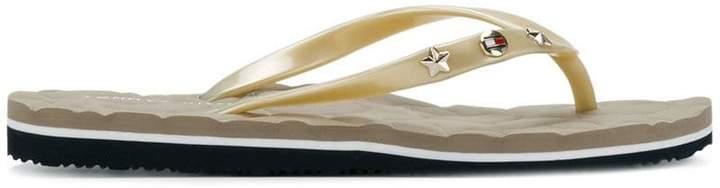 Tommy Hilfiger embellished flip flop