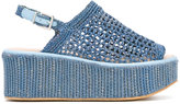 Robert Clergerie Fiesta raffia wedge sandals - women - Goat Skin/Polyurethane/rubber - 37