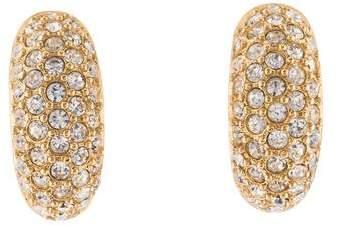 Christian Dior Crystal Clip-On Earrings