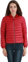 Wantdo Women's Bomber Flight Packable Ultra Light Weight Short Down Jacket