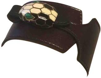 Bvlgari Serpenti Brown Leather Bracelets
