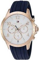 Tommy Hilfiger Women's 1781645 Dani Analog Display Japanese Quartz Blue Watch